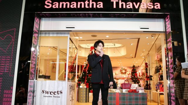 SPゲストに新田真剣佑!「サマンサ」オリジナル巨大クリスマスツリーが出現!